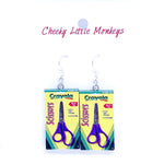 Cheeky Little Monkeys - Crayola Scissors Earrings