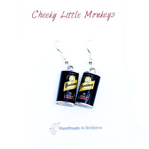 Cheeky Little Monkeys - Bundaberg Rum Earrings