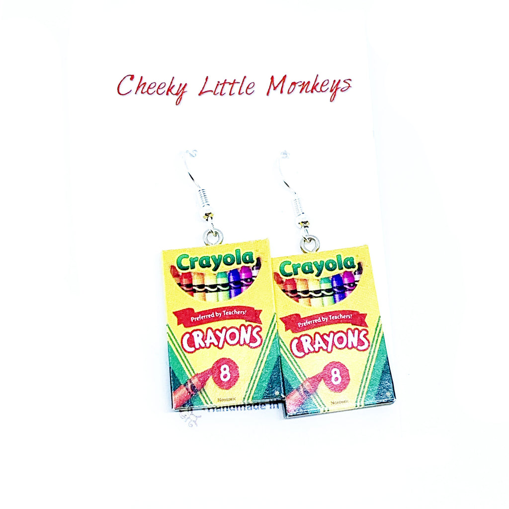 Cheeky Little Monkeys - Crayola Crayons Earrings