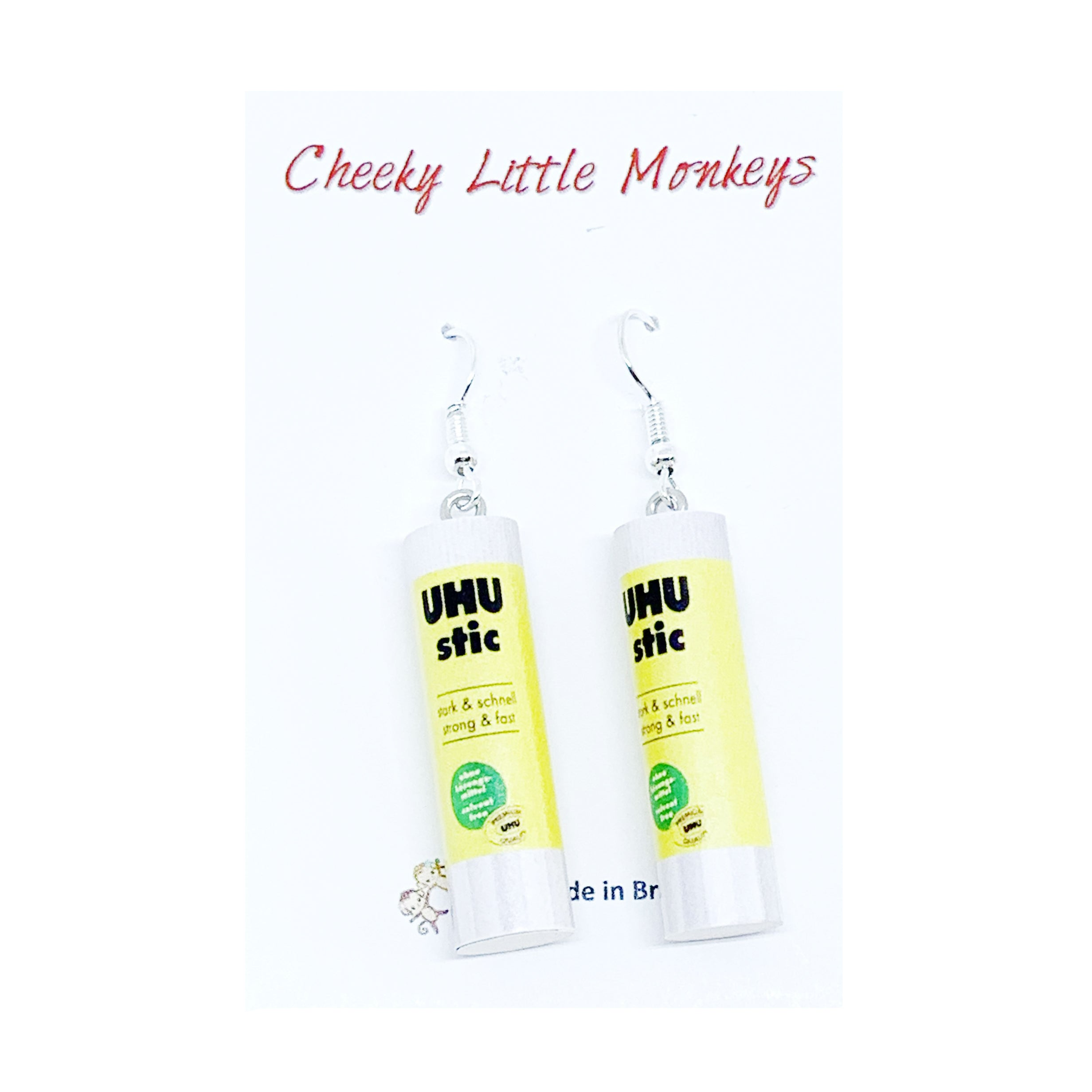 Cheeky Little Monkeys - UHU Glue Earrings