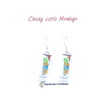 Cheeky Little Monkeys - Vego Bar Earrings