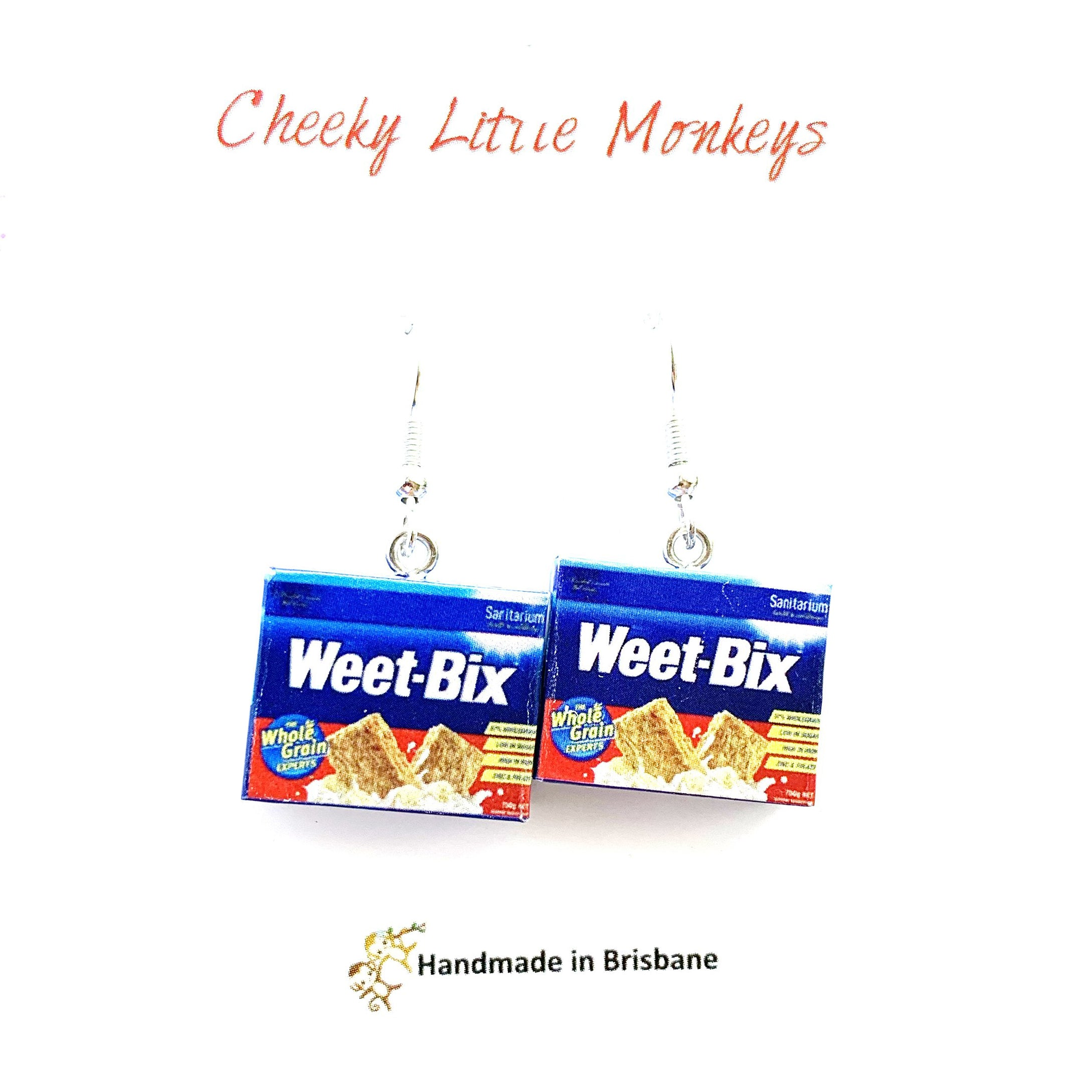 Cheeky Little Monkeys - Weet-Bix Earrings