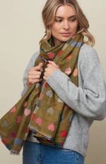 Tiger Tree Grass Romance Scarf