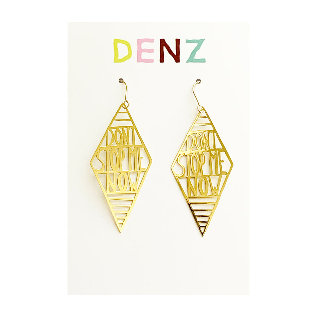 DENZ Don't stop me now dangles | gold
