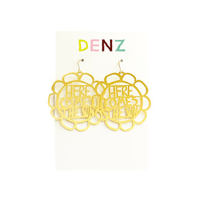 DENZ Here comes the sun dangles | Gold