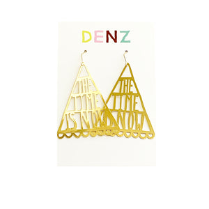 DENZ The time is now dangles | gold