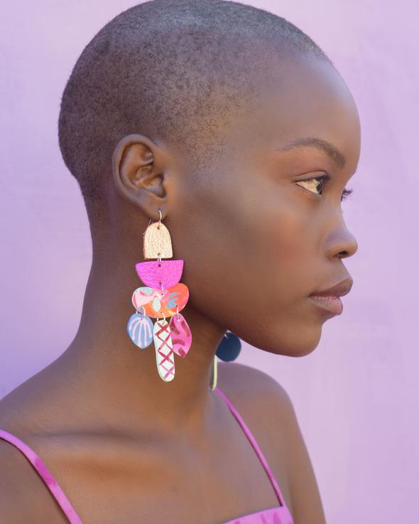 Mazdevallia - Heliconia Statement Earrings