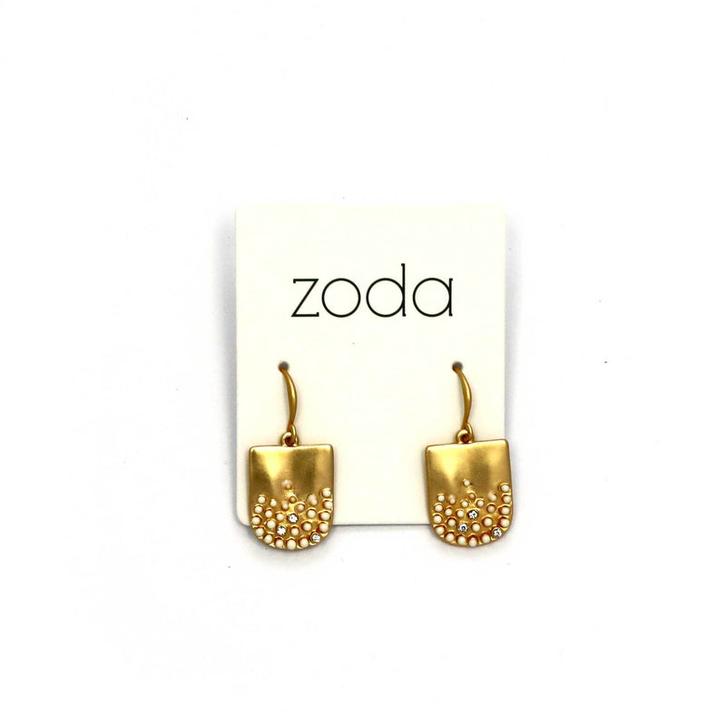 Zoda abstract drops | gold and white