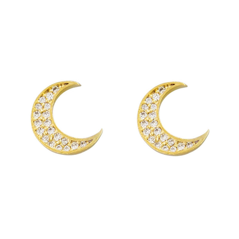 Tiger Tree gold luna studs