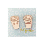 Elka coffee cup studs | rose gold | LGE