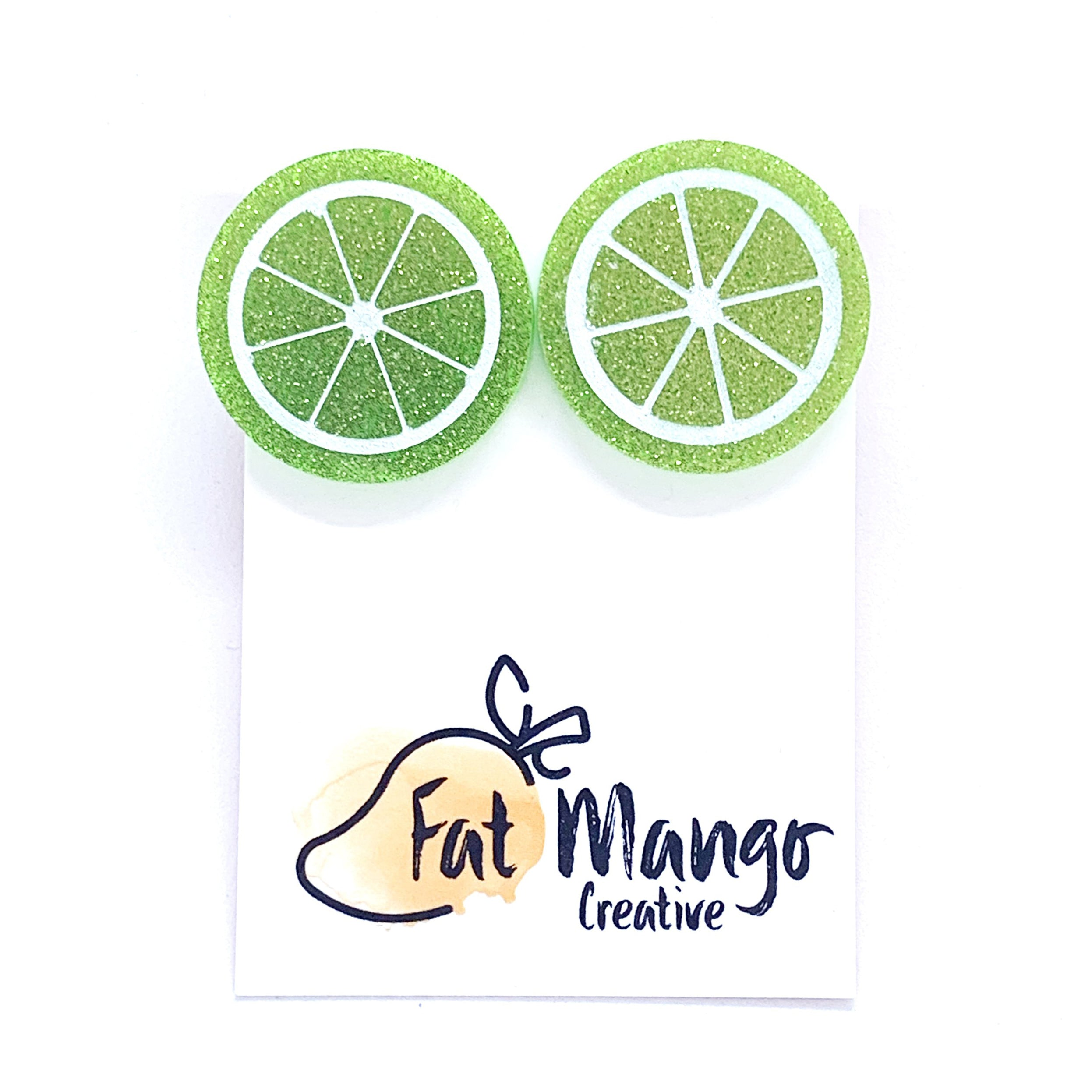 Fat Mango You're the zest studs - Lime