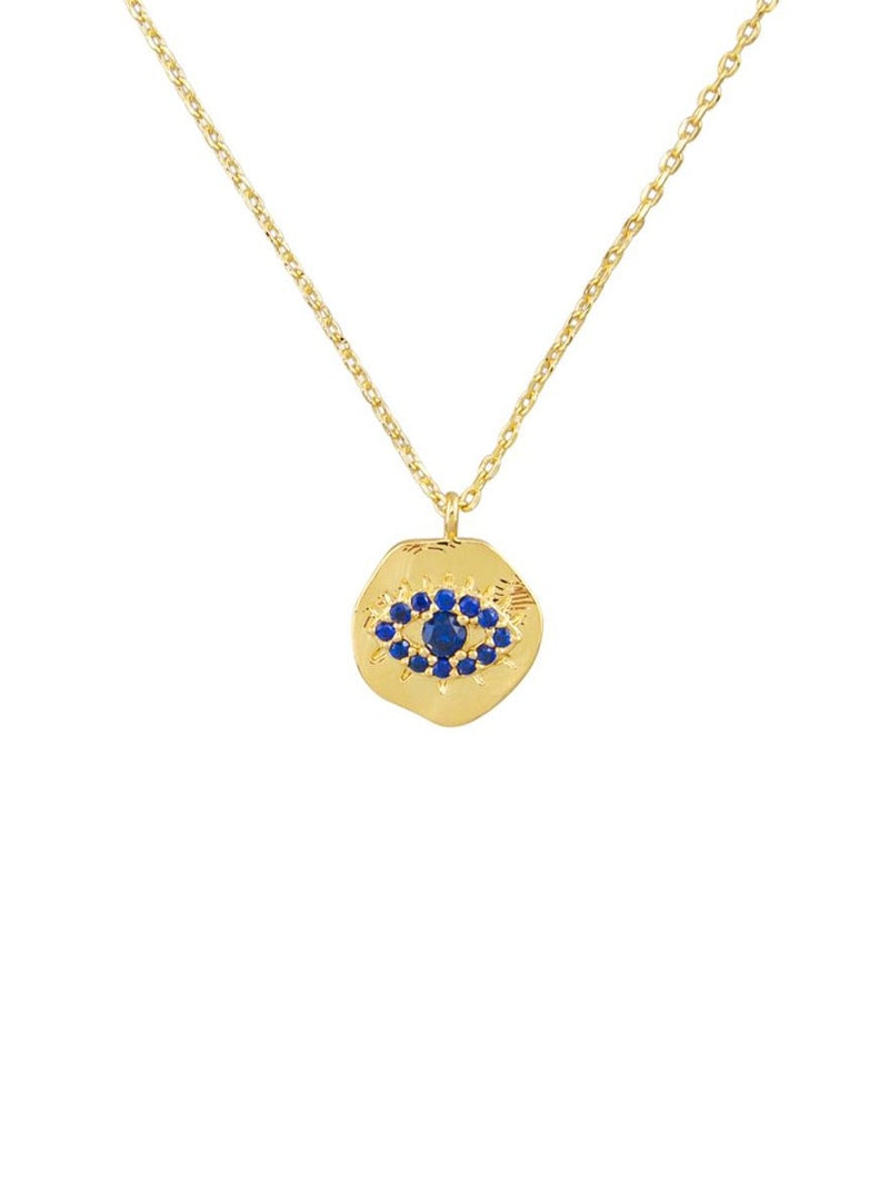 Tiger Tree Blue Eye Necklace | gold