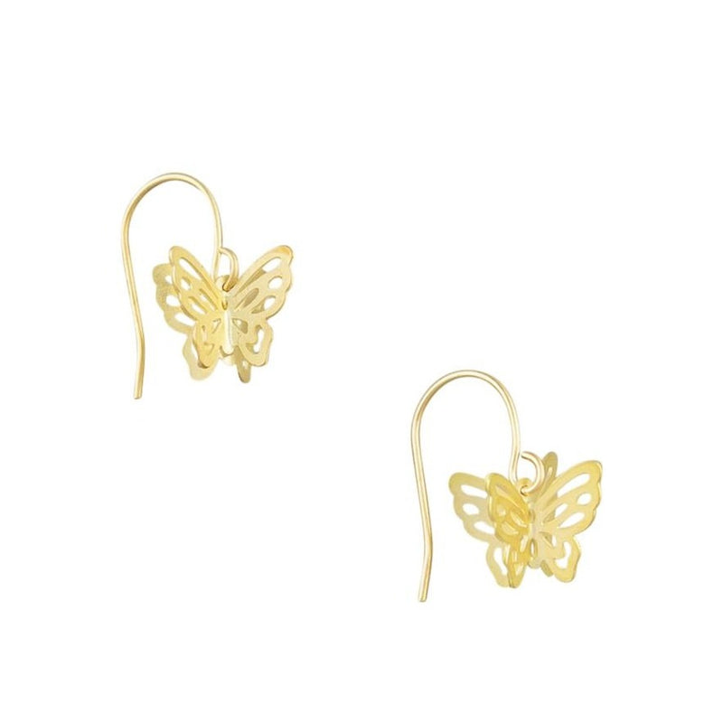Tiger Tree | Gold Butterfly Earring