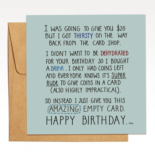 Mrs Fo | An Amazing Empty Card