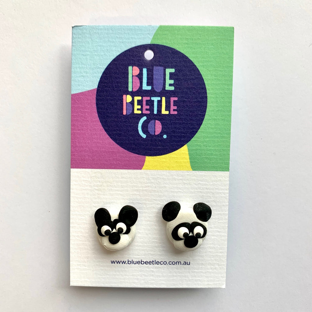 Blue Beetle Co Panda Studs