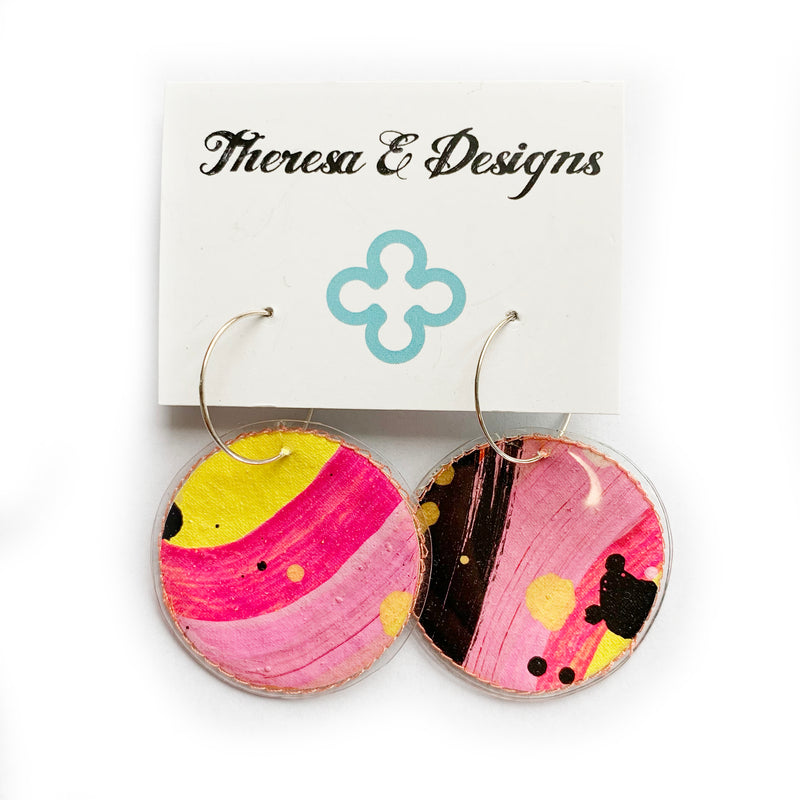 Theresa E Designs PVC hoops | multi print