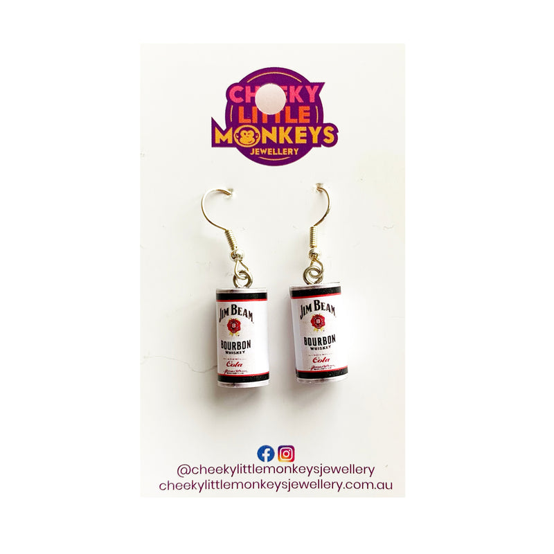 Cheeky Little Monkeys | Bourbon & Coke Earrings