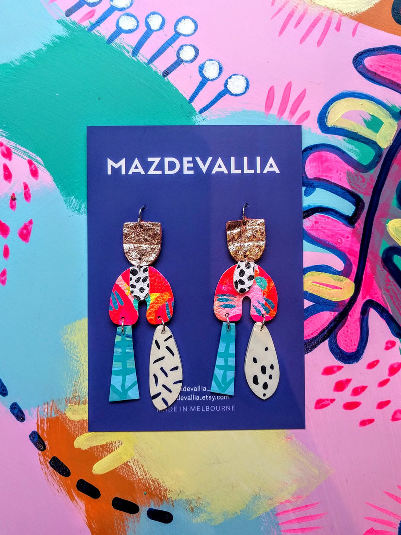 Mazdevallia - Neon Dancer Statement Earrings