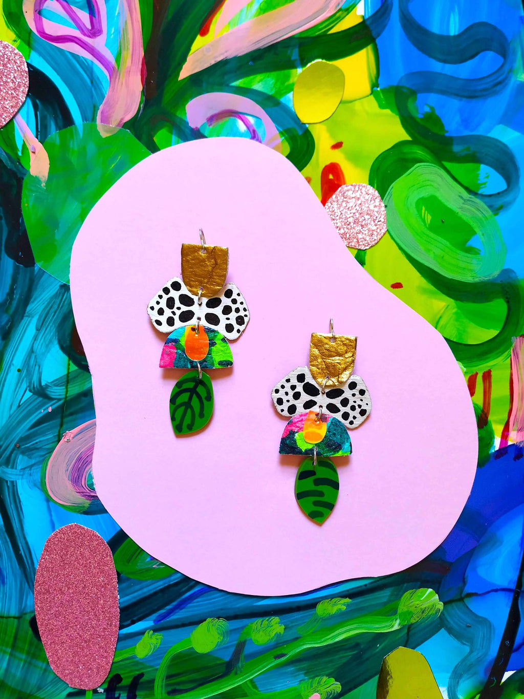 Mazdevallia - Okenia Statement Earrings