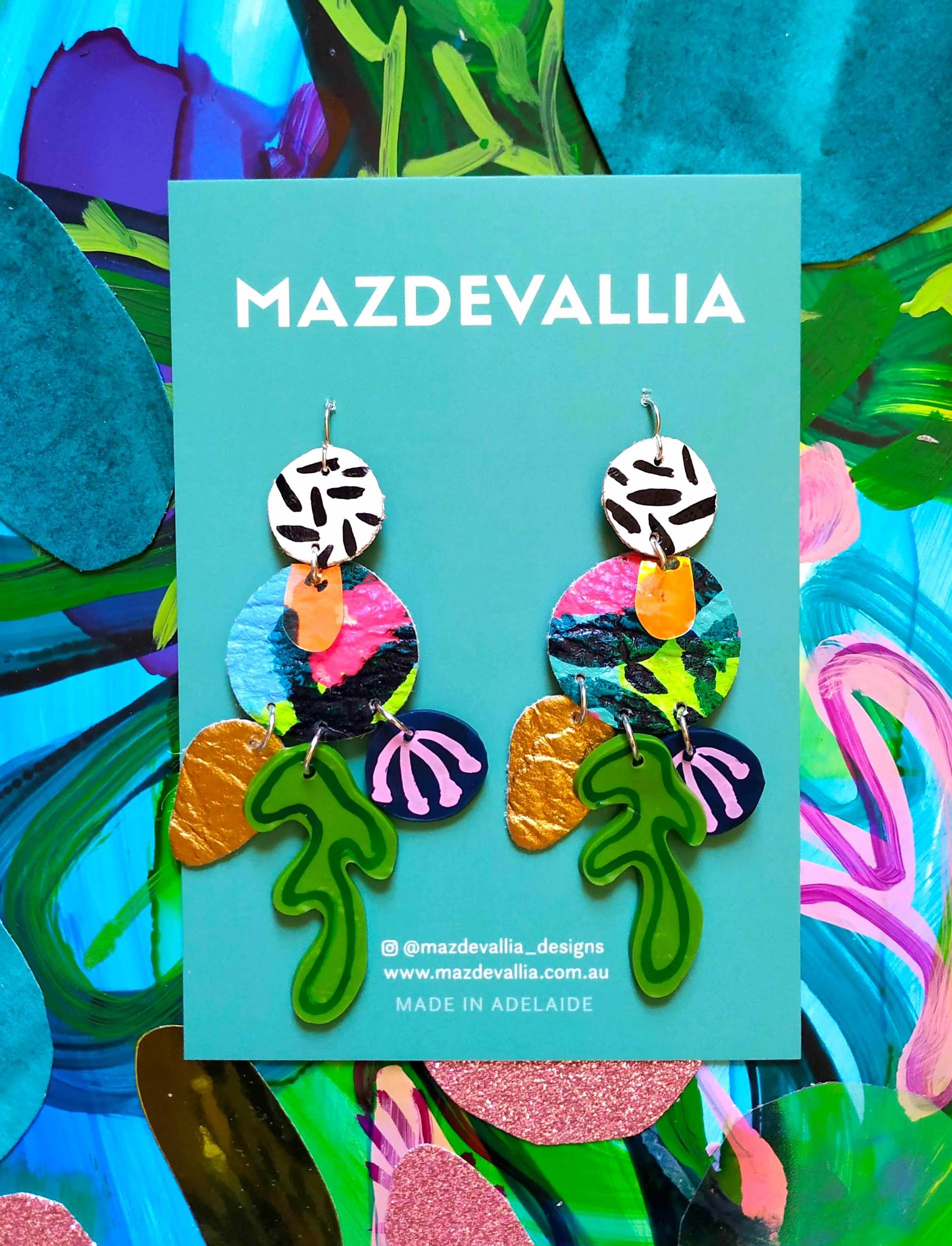 Mazdevallia - Amamzonia Statement Earrings