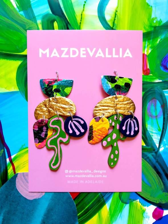 Mazdevallia - Semiaquatic Statement Earrings