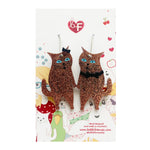 Bobbi Frances Cat Earrings - Kevin and his gal