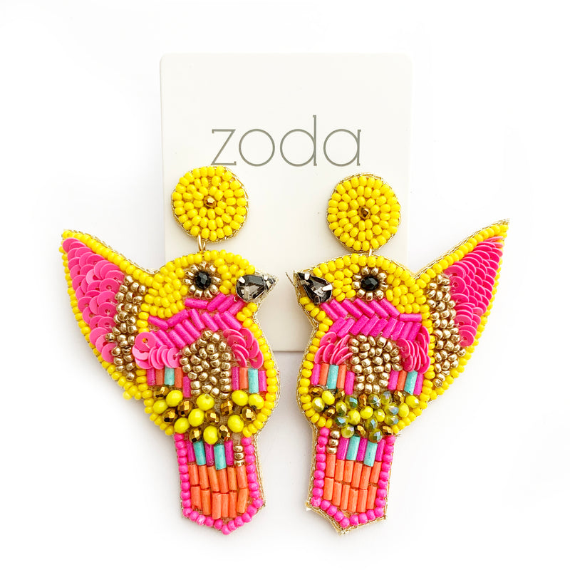 Zoda | Beaded Bird Drops