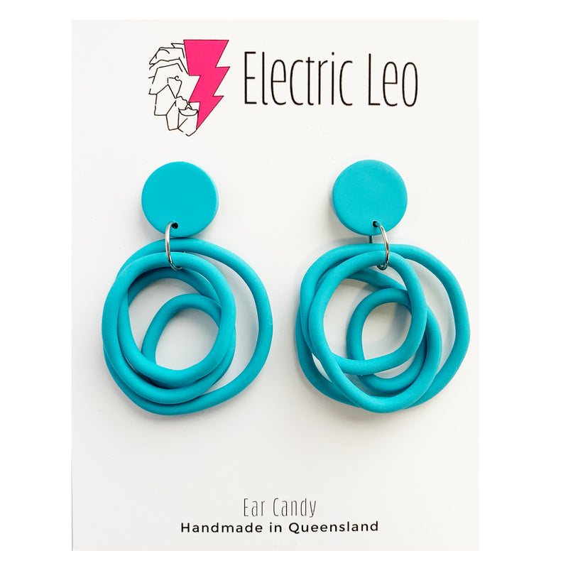 Electric Leo | Blue Earrings