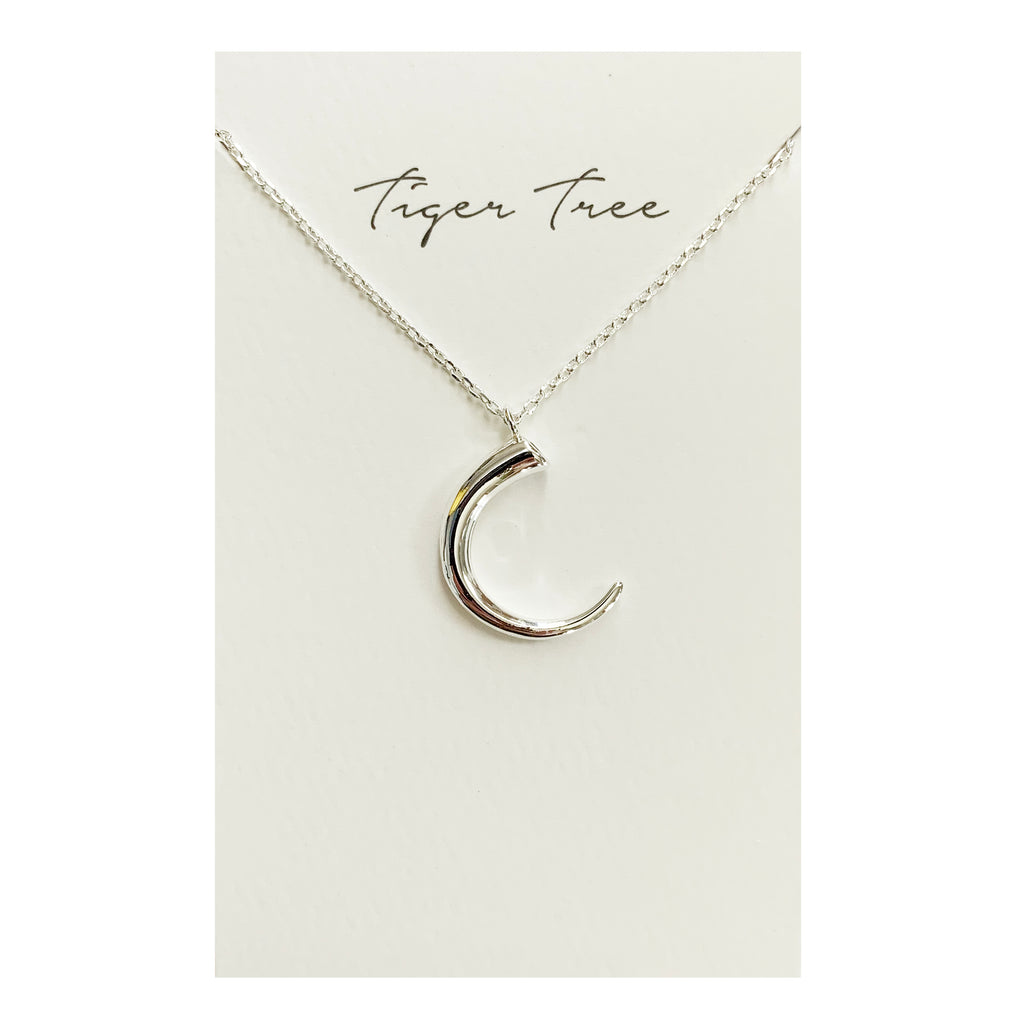Tiger Tree | Silver Tusk Necklace