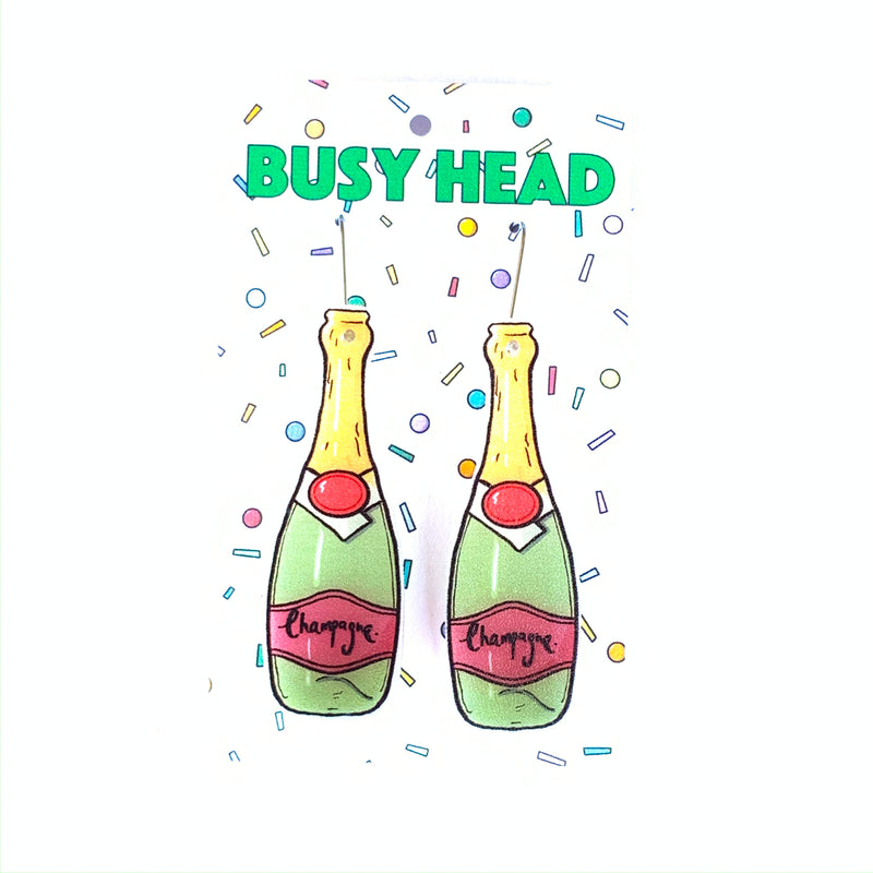Busy Head Champagne Bottles