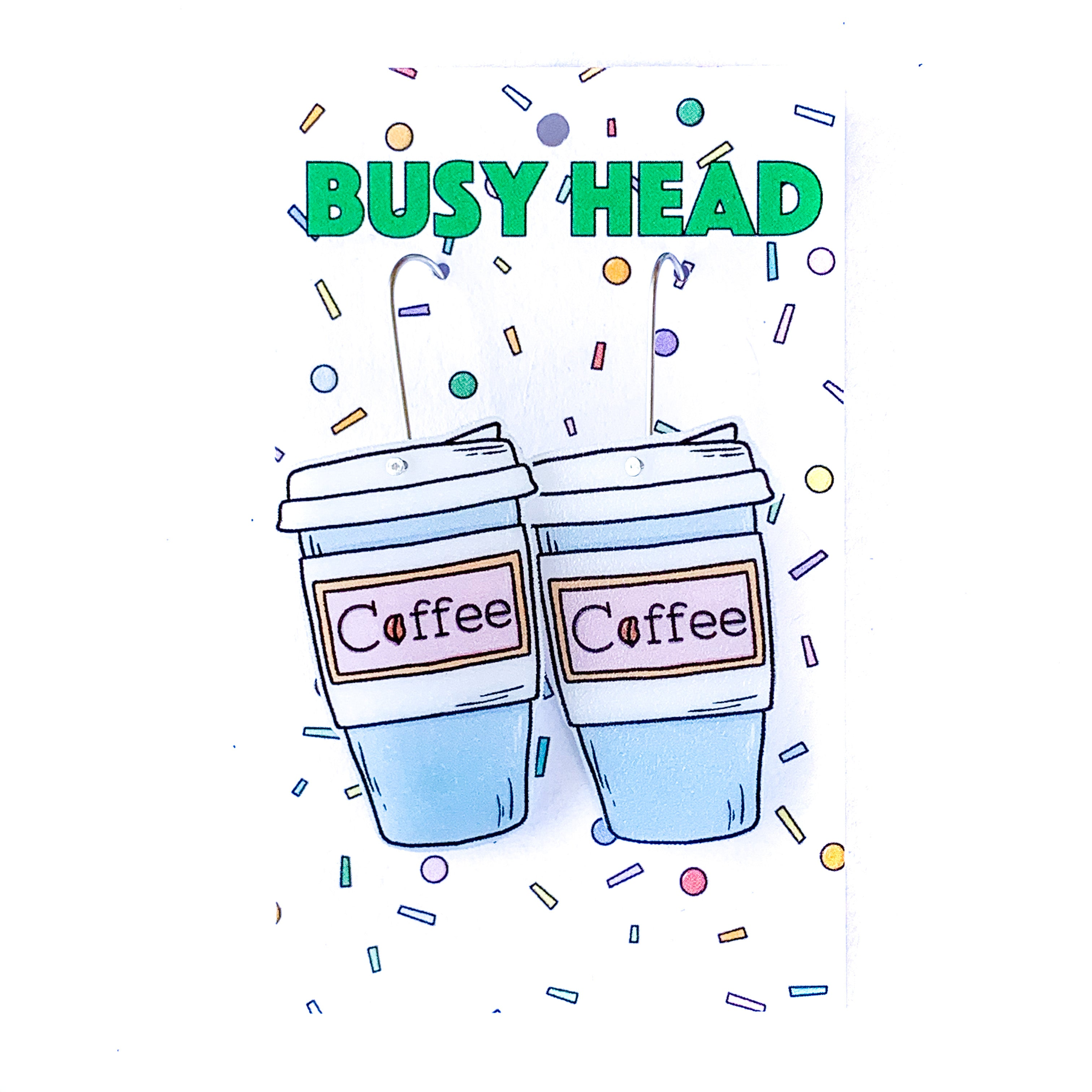 Busy Head Coffee cups
