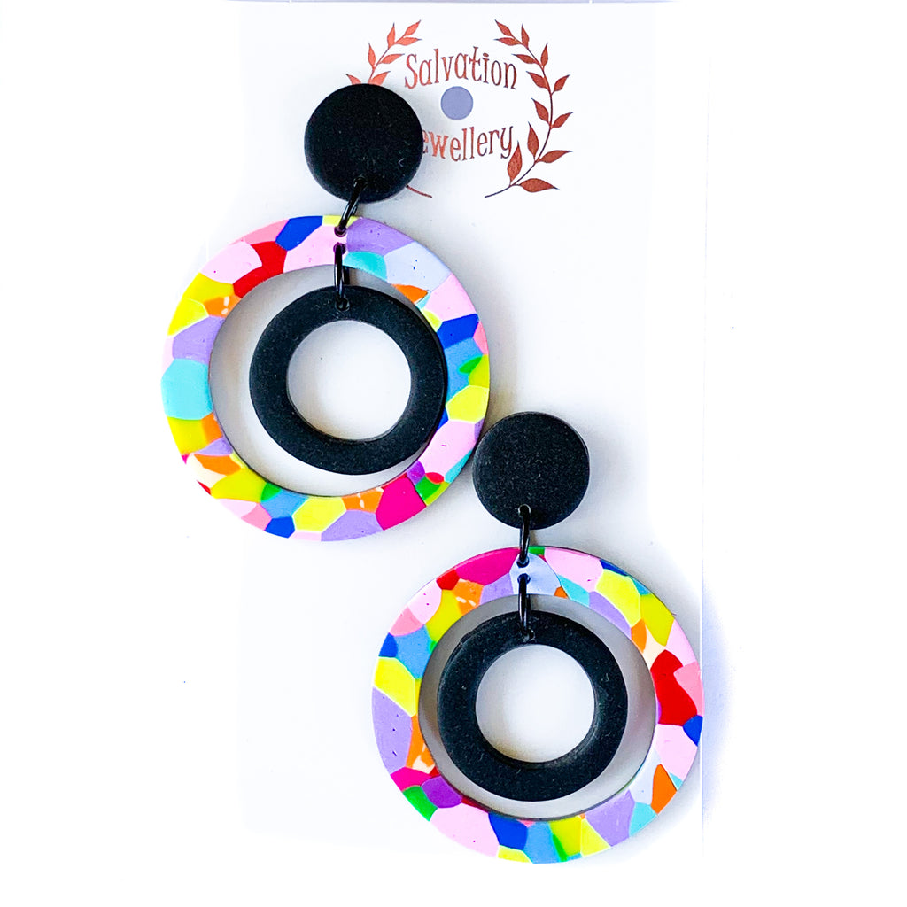 Salvation Double hoop confetti drops