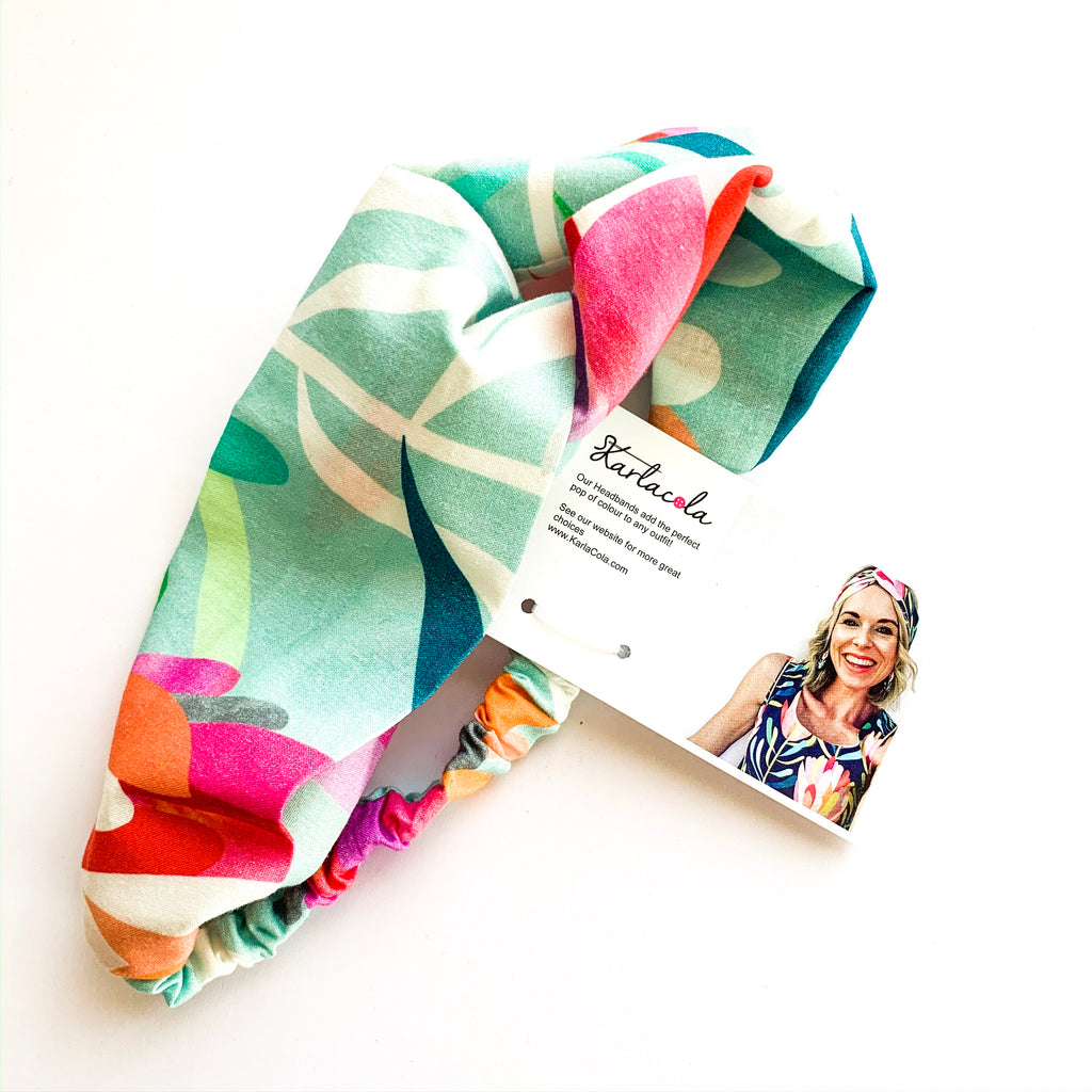 KarlaCola | Protea Lovers Aqua Twist headband | Multi