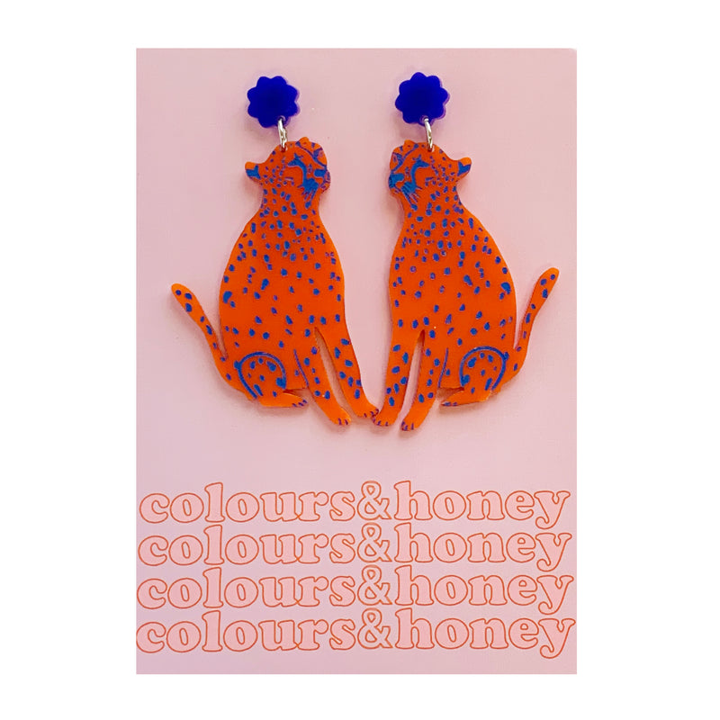 Colours & Honey | Cheetah Earrings
