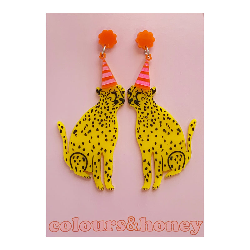 Colours & Honey | Party Cheetah Earrings