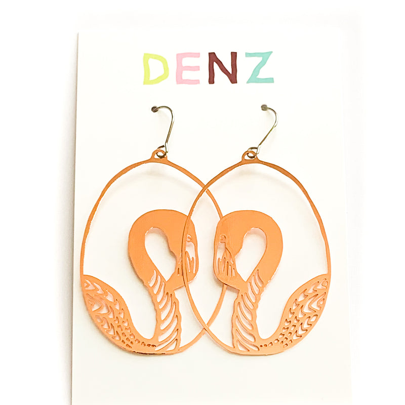 DENZ Swan Dangles | Rose Gold