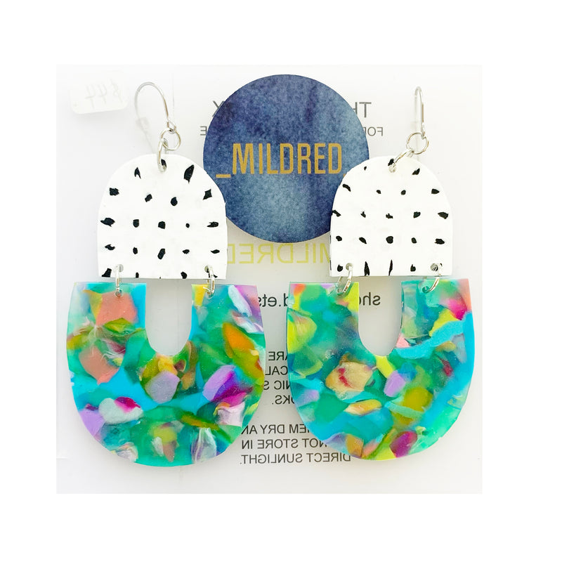 Mildred Drops - Multi Colour Confetti