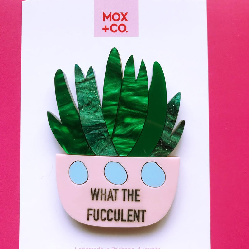 Copy of MOX & Co | What the Fucculent Brooch