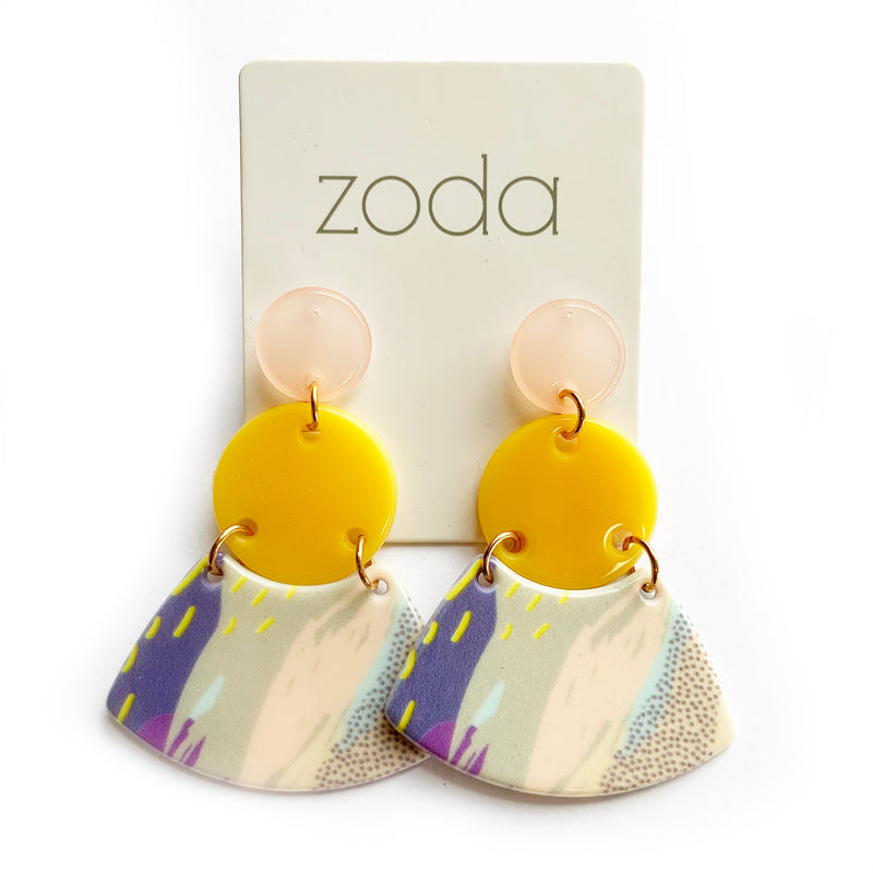 Zoda Earrings | Multi Coloured