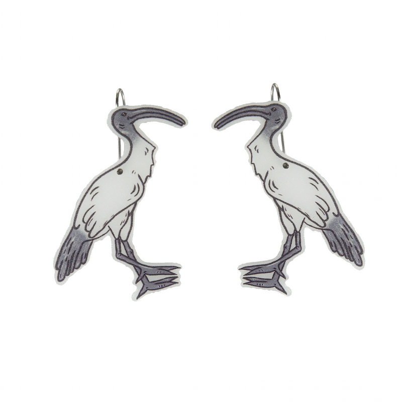 Busy Head Ibis Earrings