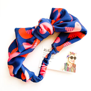 KarlaCola | You're so Tweet Bow headband | Navy
