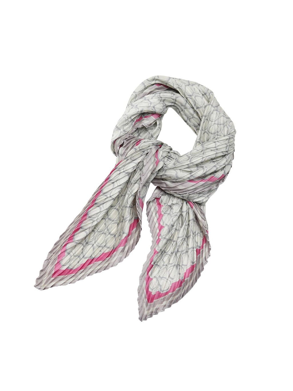 Tiger Tree Grey and Pink Scarf