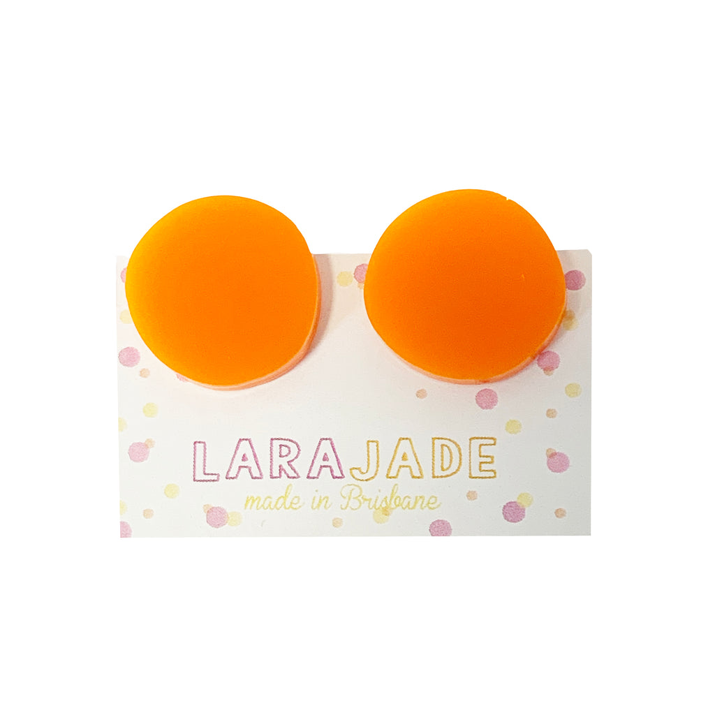 CLIP ON | Lara Jade rounds | Orange