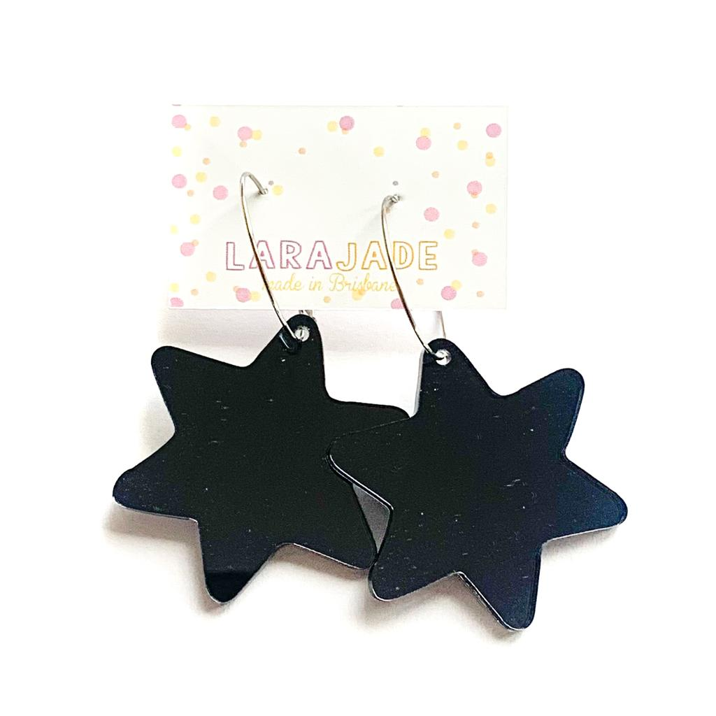 Lara Jade star hoop dangles | black mirror | LGE