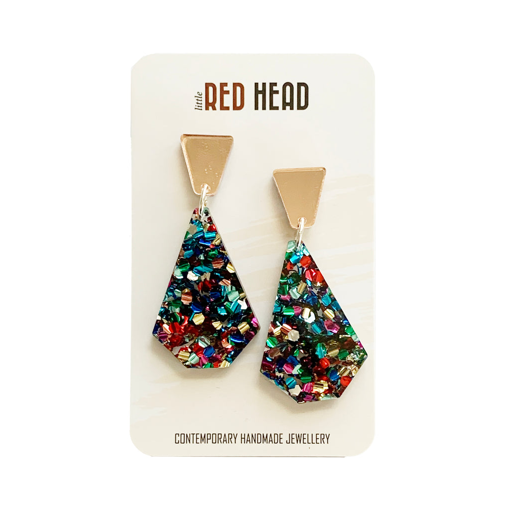 Little Red Head Confetti drops | rose gold, confetti