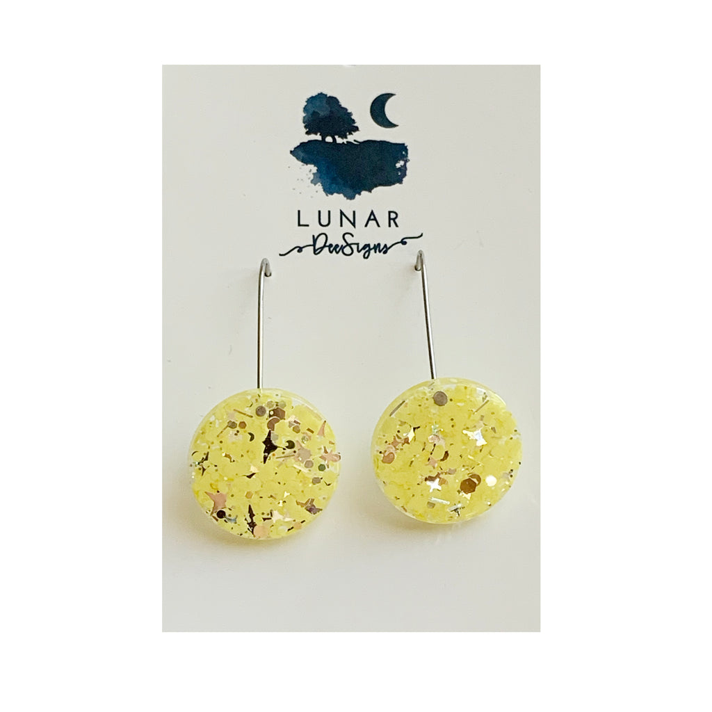 Lunar glitter drops | Lemon rounds
