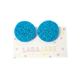CLIP ON | Lara Jade rounds | Blue glitter