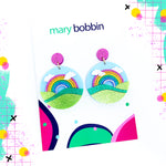 Mary Bobbin Over The Rainbow Statement Dangles