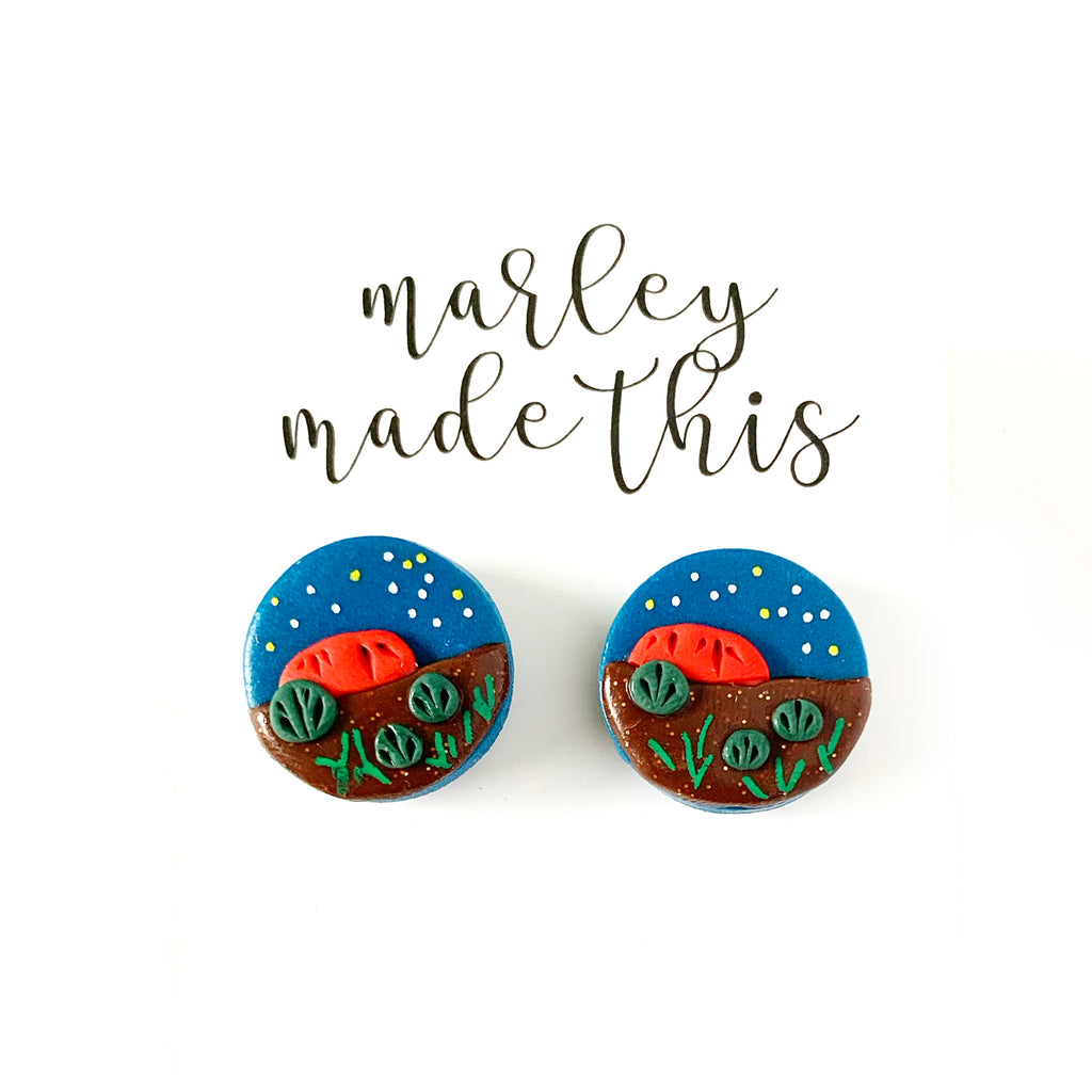 Marley Made This | Midnight Uluru studs