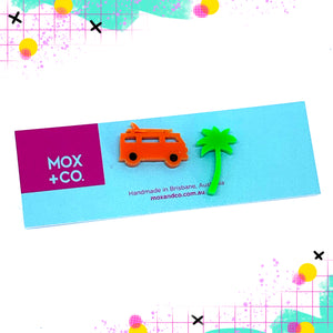 MOX & Co Combi palm tree studs